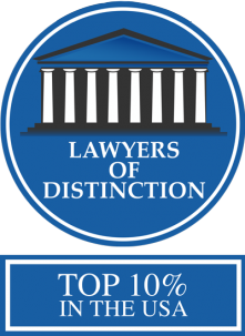 Lawyers of Distinction Top 10% in the USA